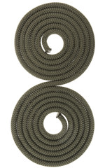 two paralel spirals from rope.