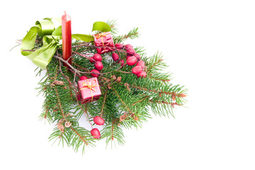 christmas presents decoration on white background