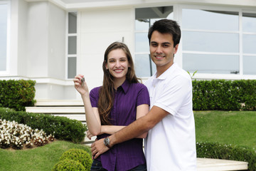 Couple buying a new house
