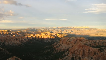 Time lapse sunset over Bryce Canyon National Park