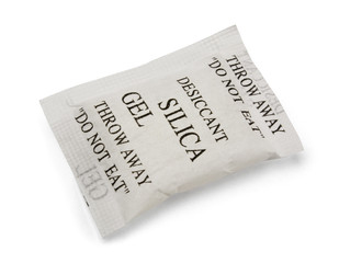 Paper packet of silica gel