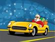 Santa Convertible car