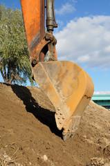 Excavator bucket.