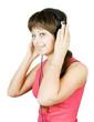 teenager in the headphones