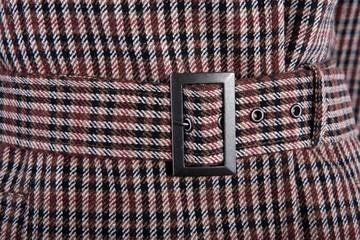 Female coat fabric detail