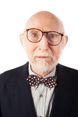 Expressive Senior Man