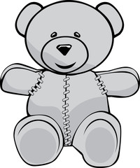 Stiched teddy bear