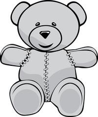 Stiched teddy bear
