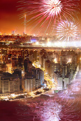Fireworks of Taipei city