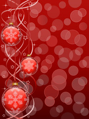 Christmas background with a holiday baubles