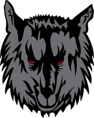 Vector image of grey wolf