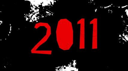 salpicadura de tinta escribiendo 2011