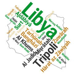 Libya map and cities