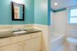 Bathroom. Blue.