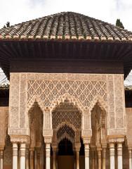 Portal im Patio de los Leones I, Alhambra Granada, Spanien