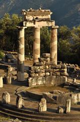 The Tholos at the sanctuary of Athena Pronaia in Delphi, Greece