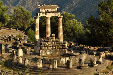 The Tholos at the sanctuary of Athena Pronaia in Delphi, Greece