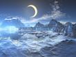 Quadro Lunar Eclipse over Frozen Planet