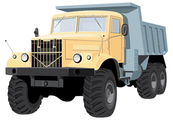 Vector dump truck without gradients