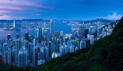 Hongkong Panorama Sonnenuntergang