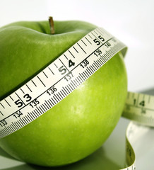 Fresh And Crisp Apple With Measuring Tape
