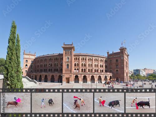 Famous bullfighting arena - Plaza de Toros in Madrid - 27378873
