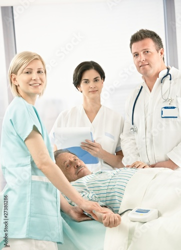 Portrait of medical team with patient
