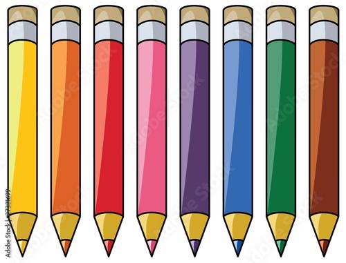 Vector  Vector Colourful Pencils Clipart