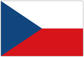 Flagge von Tschechien