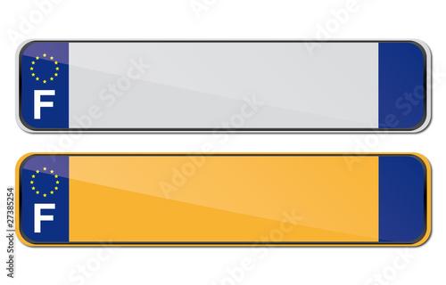 template plaques immatriculation fichier vectoriel libre de droits sur la banque d 39 images. Black Bedroom Furniture Sets. Home Design Ideas