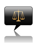 LEGAL ADVICE Speech Bubble Icon (law scales of justice rights) poster