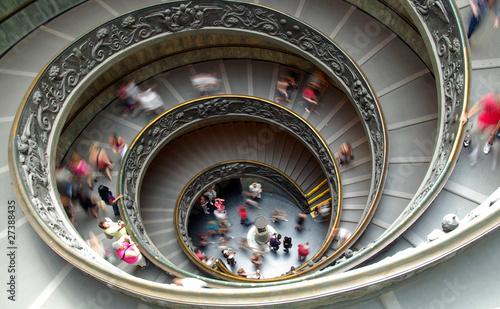 Leinwanddruck Bild Spiral staircase