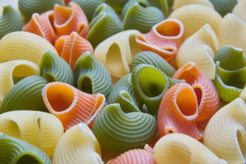 makaron kolorowe muszelki