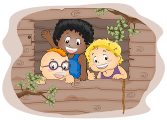 Kids in a Treehouse