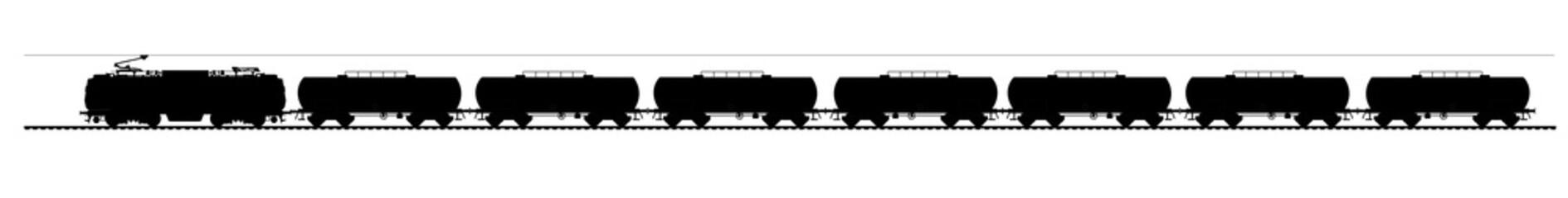 Tank train vector
