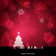 Background with Christmas tree, snowflakes and lights