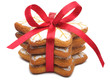 A stack of Christmas cookies