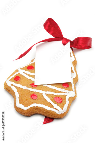 Christmas cookies with a label