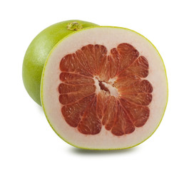 Pomelo on white background