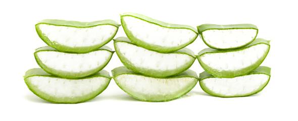 aloe vera leaf slices