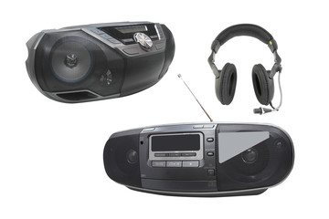 audio recorders and headphones