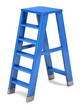 Blue ladder on a white background
