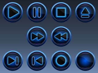 Neon Musik Buttons