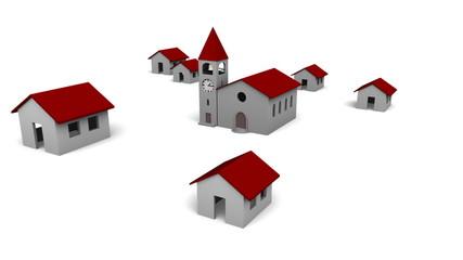 Village Growing Around the Church