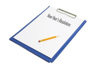 New Year's Resolutions and Clipboard