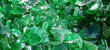 verre vert en morceaux à recycler