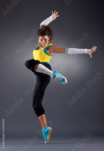 young female dancing