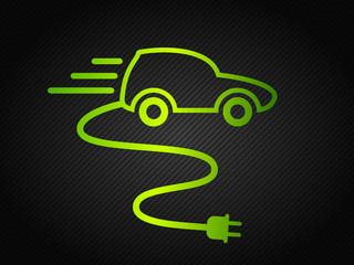 green & electric car