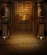 Świątynia fantasy z czaszkami