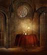 Świątynia fantasy ze stolikiem